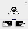castle logo template and business card vector image vector image