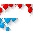Celebrate backgrounds with flat balloons vector image vector image