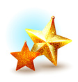 Christmas icon with golden star-shaped vector image