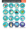 Circle Colorful Concept Icons Flat Design Set 4 vector image vector image