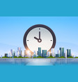 clock icon time management deadline business vector image