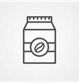 coffee bag icon sign symbol vector image vector image