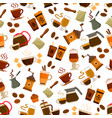 coffee drink and cocktail seamless pattern vector image vector image