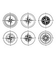 collection logos compass stylized sea vector image vector image