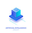 concept artificial intelligence vector image vector image