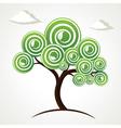 creative green tree vector image vector image