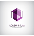crystal abstract icon logo vector image vector image