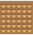 cute deer head pattern background image vector image vector image