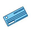 cute paper check bank to pay vector image vector image