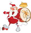 Cute Santa Claus One-man Band vector image