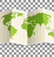 Earth map Infographic elements vector image vector image