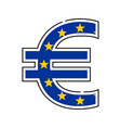euro symbol european currency with flag icon vector image