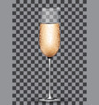 filled champagne glass on transparent background vector image vector image