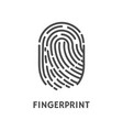 fingerprint print of human finger poster vector image