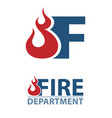 fire departmen logo vector image vector image