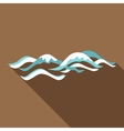 Flat wave icon flat style vector image vector image