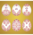 Floral ornamental eggs vector image