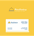 food dish logo design with business card template vector image