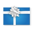 Gift box top view vector image