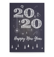 happy new year 2020 greeting poster festive vector image