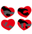 Icons hand to heart vector image vector image