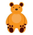 isolated teddy bear toy vector image vector image