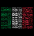 italian flag collage of victory text items vector image vector image