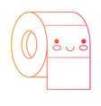 kawaii toilet paper roll in degraded yellow to vector image vector image