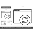 Loading page line icon vector image