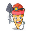 miner ice cream tone mascot cartoon vector image vector image