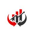 modern financial stock trading logo vector image vector image