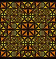 orange repeating kaleidoscope pattern background vector image