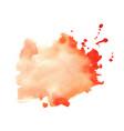 orange watercolor splatter stain texture vector image vector image