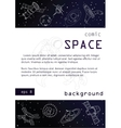 Outer space background poster design vector image vector image