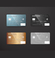 realistic credit card template set bank card vector image vector image