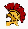 Roman helmet vector image
