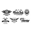 set of original emblems for moto racing vector image vector image