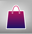 shopping bag purple gradient vector image vector image