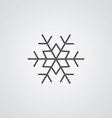 snowflake outline symbol dark on white background vector image vector image