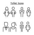 toilet restroom bathroom symbol set in modern vector image vector image