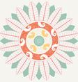 Tropical Mandala in pastel colors vector image vector image
