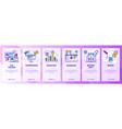 web site onboarding screens digital marketing vector image vector image