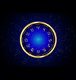wheel set zodiac and constellations on blue vector image vector image