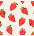 wild or garden strawberry fruit red berry vector image vector image