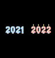 year change from 2021 to 2022 concept banner icon vector image