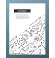 Business Success - line design brochure poster vector image
