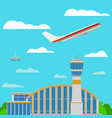 airport airplanes flat style vector image