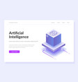 artificial intelligence web template vector image vector image