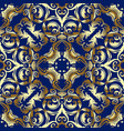 baroque gold seamless pattern vector image