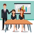 business people in training process isolated icon vector image vector image